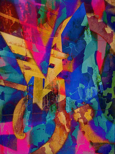 Modern, Abstract kunstwerk - I Remember The Days (Links) van Art  By Dominic