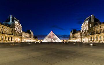 Louvre bei Nacht von Ruud van der Aalst