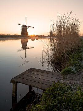 Kinderdijk Windmühlen in den frühen Morgenstunden von Wilco Bos