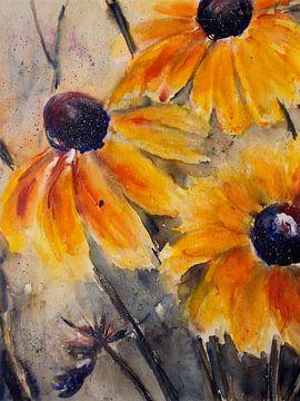gelber Sonnenhut von Christine Nöhmeier