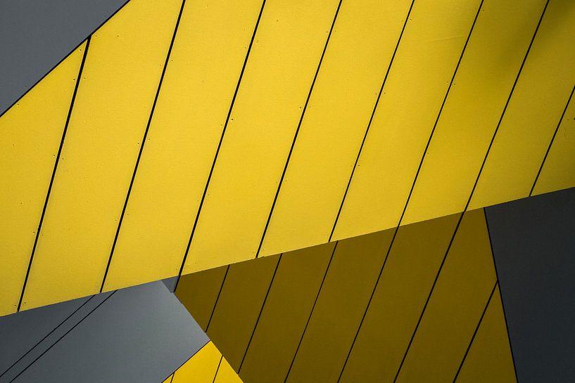 Abstract detail van de Kubuswoningen, Rotterdam van Martijn Smeets