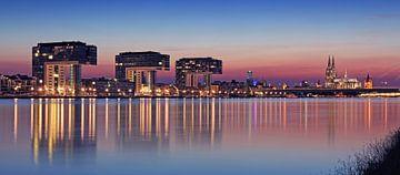Köln Skyline im Sonnenuntergang von Frank Herrmann