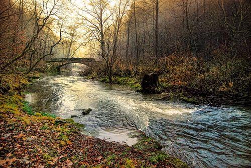 De brug over de wilde rivier van
