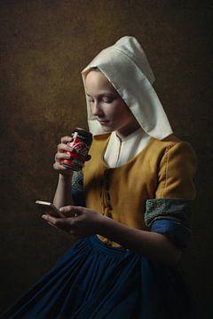 Het Melkmeisje van Johannes Vermeer van ingrid schot