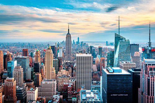 New York Skyline from above van Sascha Kilmer