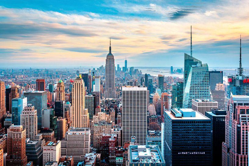 New York Skyline von oben von Sascha Kilmer