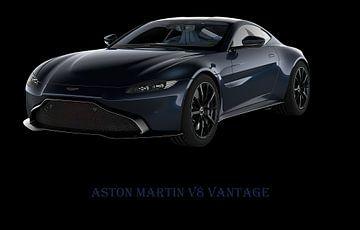 Aston Martin Vantage met tekst
