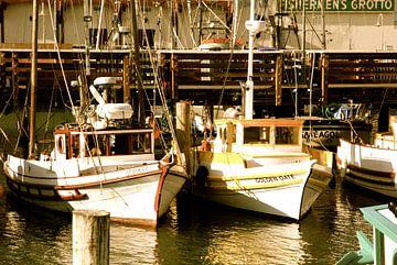 Boats of San Francisco, California van Samantha Phung
