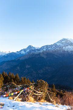 Ochtend in de Himalaya van Mickéle Godderis
