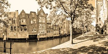 Innere Stadt von Dordrecht Niederlande Sepia von Hendrik-Jan Kornelis