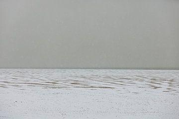 Abstract winters strand van Percy's fotografie