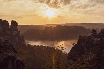 Morgenstimmung auf der Bastei von Sonja Tessen
