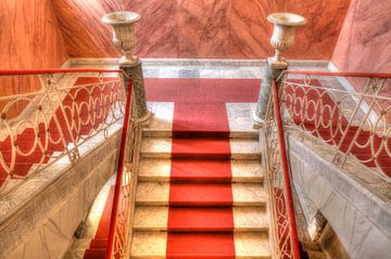Palazzo Nicolaci , Rode Trap, Noto, UNESO-Werelderfgoed, Vale di Noto, Provincie Syracuse, Sicilië,  van Torsten Krüger
