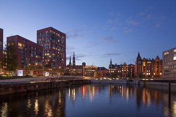 Speicherstadt, Hafencity, Hamburg, Duitsland, Europa van Torsten Krüger