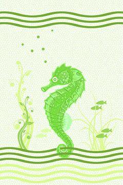 Seahorse - groen van Marion Tenbergen