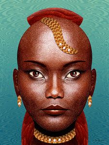 Mooie Zwarte Dame van Ton van Hummel (Alias HUVANTO)