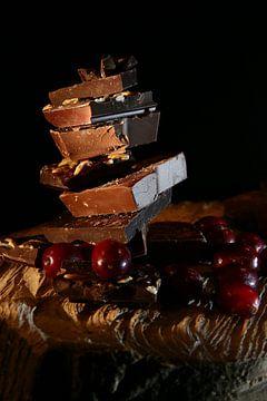 Chocolade en cranberries van Diana van Geel