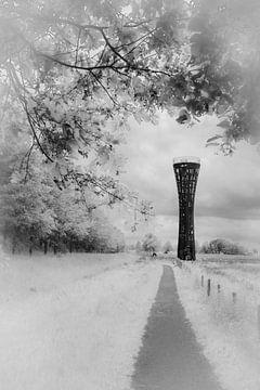 Wachtturm Weustag in Hengelo von Laurents ten Voorde