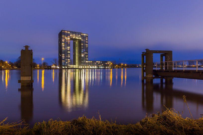 De Tasmantoren in de stad Groningen van Arline Photography