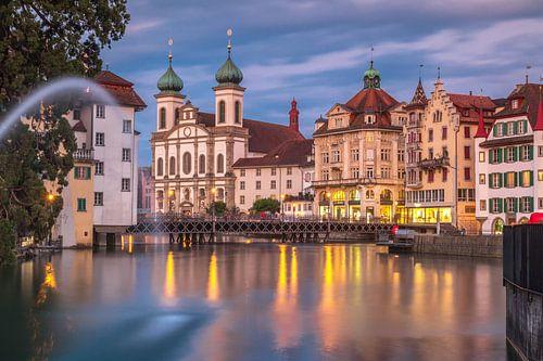 City of Luzern after sunset