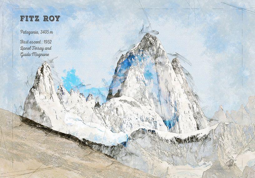 Fitz Roy, Patagonien von Theodor Decker