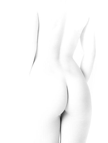 Künstlerischer Akt einer Frau in hoher Tonlage / Schwarz-Weiß von Art By Dominic
