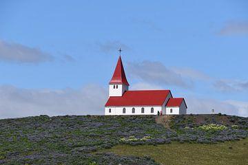 Kerkje in IJsland van Susan Dekker
