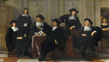 Die Regenten des Spinhuis und Nieuwe Werkhuis in Amsterdam, Karel du Jardin. von