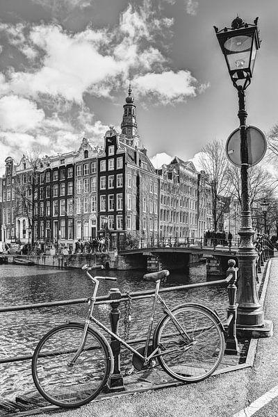 Zuiderkerk Amsterdam Kloveniersburgwal Winter Zwart-Wit van Hendrik-Jan Kornelis