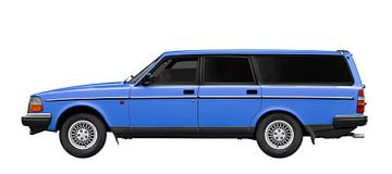 Le break Volvo 245 en bleu sur aRi F. Huber