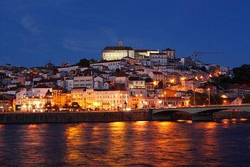Altstadt,  Fluss, Mondego, Coimbra, Portugal, Stadt, Abend, Dämmerung