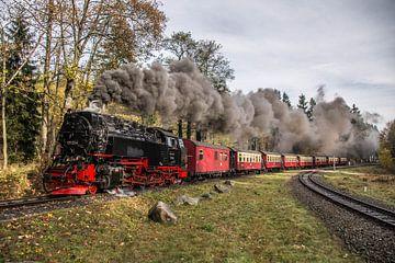 Harzer Schmalspurbahn 99-234, vertrek Drei Annen Hohne van Marcel Timmer