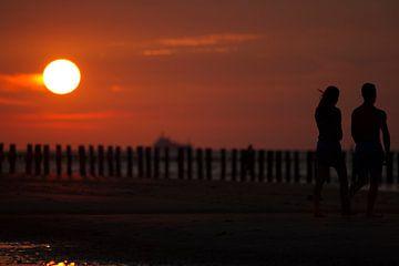 Zonsondergang Breskens van Els Vercauteren