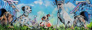 Gezellige Honden van Lineke Lijn