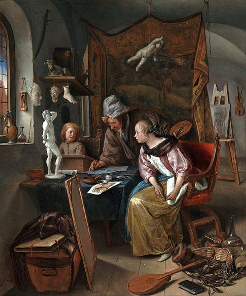 Jan Steen. De tekenklas van 1000 Schilderijen
