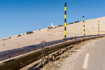 Die Straße zum Gipfel des Mont Ventoux von Fotografiecor .nl