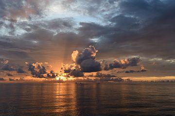 Zonsondergang Malediven van Jaap Voets
