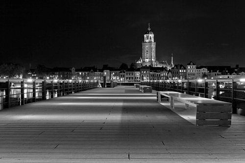 Lebuïnuskerk te Deventer zwart/wit van Anton de Zeeuw