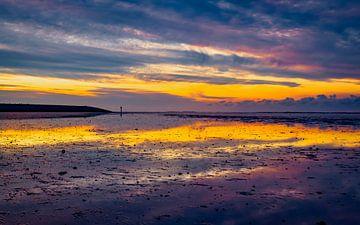 Sonnenuntergang Paesens Moddergat von Mario Brussé