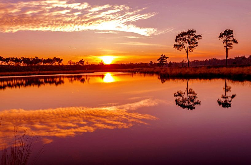 Zonsondergang van Fotografie Arthur van Leeuwen
