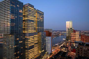 Zicht op de ' De Rotterdam'  van