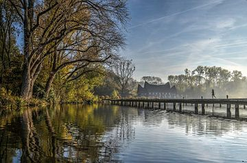 Joggen am Kralinger See, Rotterdam von Frans Blok