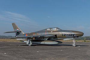 Nostalgie: Republic RF-84F Thunderflash fotoverkenningsvliegtuig van de Koninklijke Luchtmacht met r