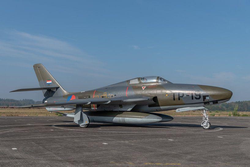 Nostalgie: Republic RF-84F Thunderflash fotoverkenningsvliegtuig van de Koninklijke Luchtmacht met r van Jaap van den Berg