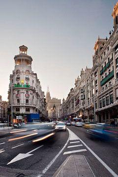 Madrid, Gran Via von Jan Sluijter