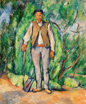 Der Gärtner, Paul Cézanne (ca. 1885) von Atelier Liesjes