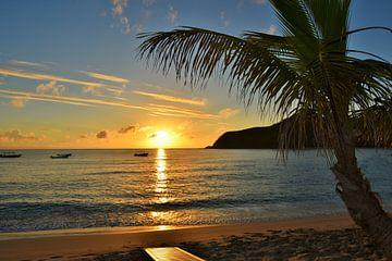 wunderschöner Sonnenuntergang auf den Fidschi-Inseln von Kelly Van den elshout