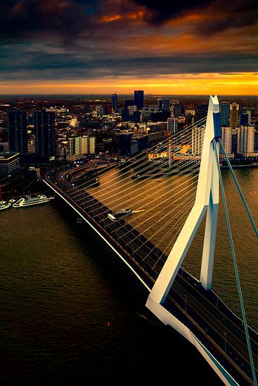 Rotterdam in avondlicht