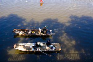 Vissers op de Moldau van