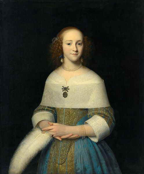 Portret van een jonge vrouw, Isaack Luttichuys - 1656 van Het Archief